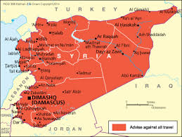A map of Syria